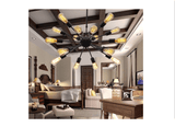 Unitary Brand Vintage Metal Large Chandelier with 18 Lights Painted Finish - unitarylighting