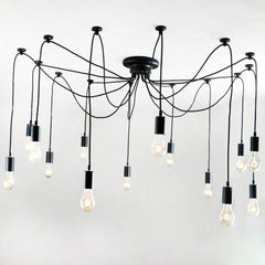 UNITARY BRAND Antique Large Barn Chandelier with 14 Lights Painted Finish - unitarylighting
