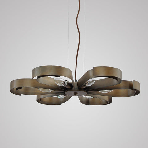 Unitary Brand Antique Copper Metal Floral Pendant light with 6 E12 Bulb Sockets 360W Copper Finish : floral pendant light - azcodes.com