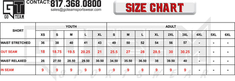 1eec7eb0e Flag Football Sizing Chart (This is our standard dri-fit jersey used for  multiple sports)