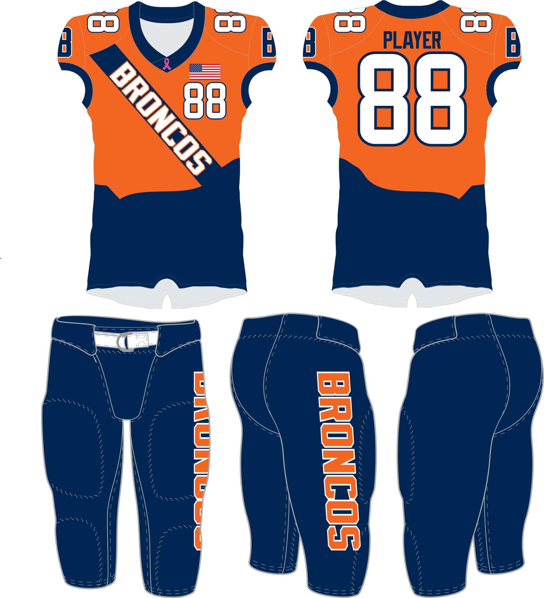 Broncos Navy Tackle Uniform