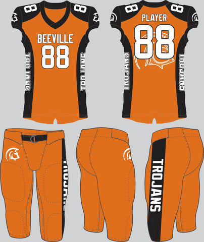 Beeville Trojans Orange Tackle Uniform
