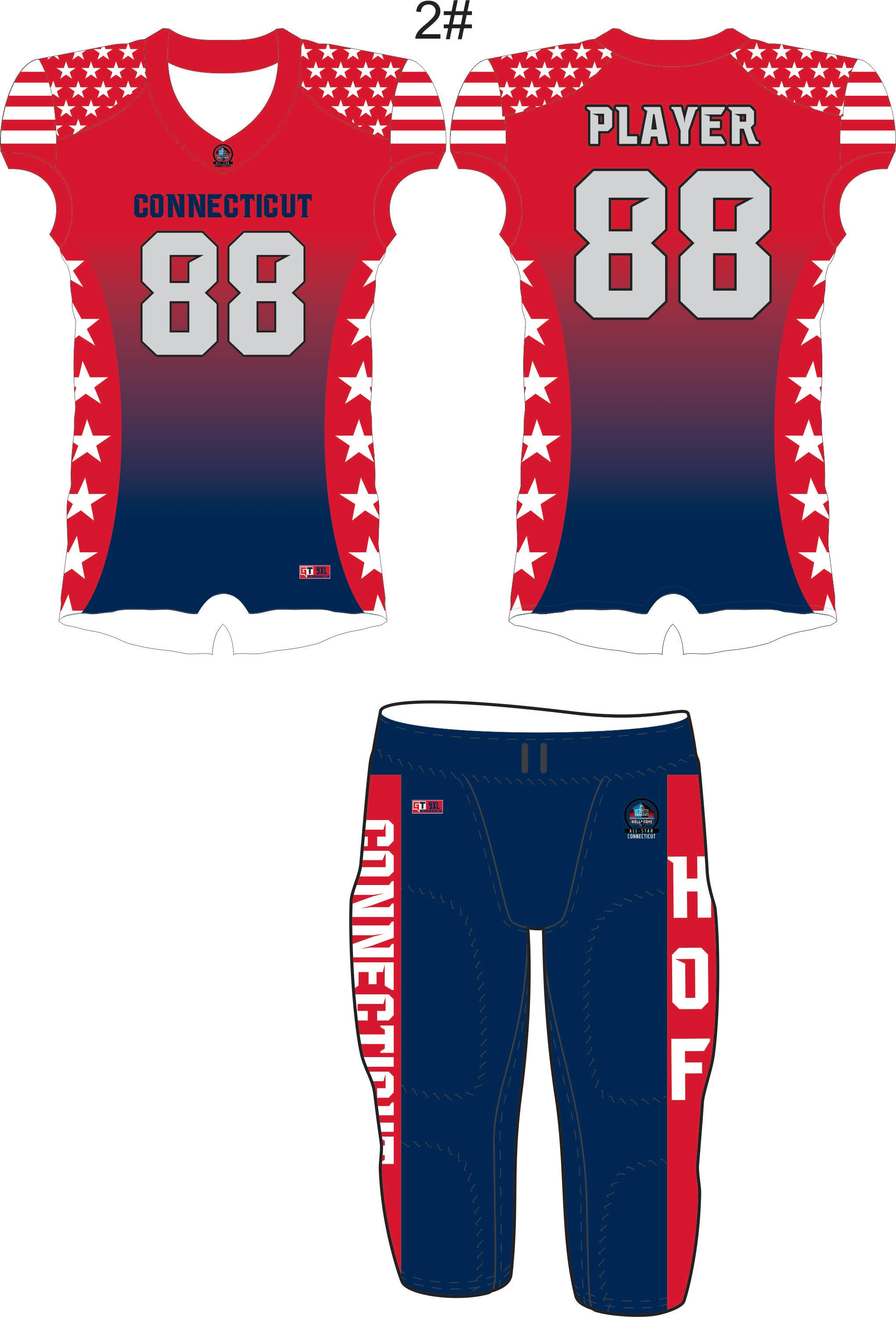 Connecticut for the Hall of Fame Tackle Uniform