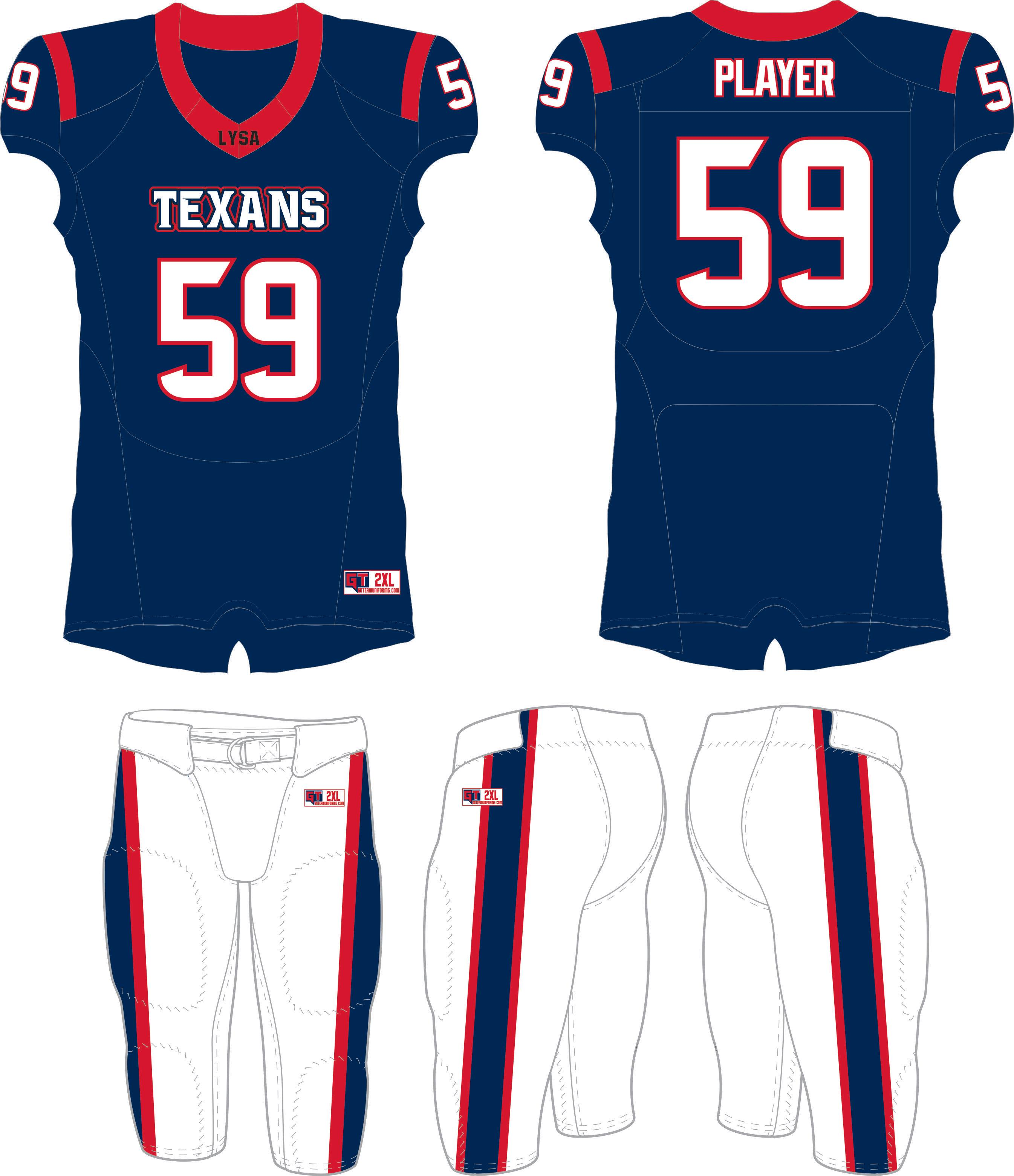 LYSA Texans Tackle Uniform