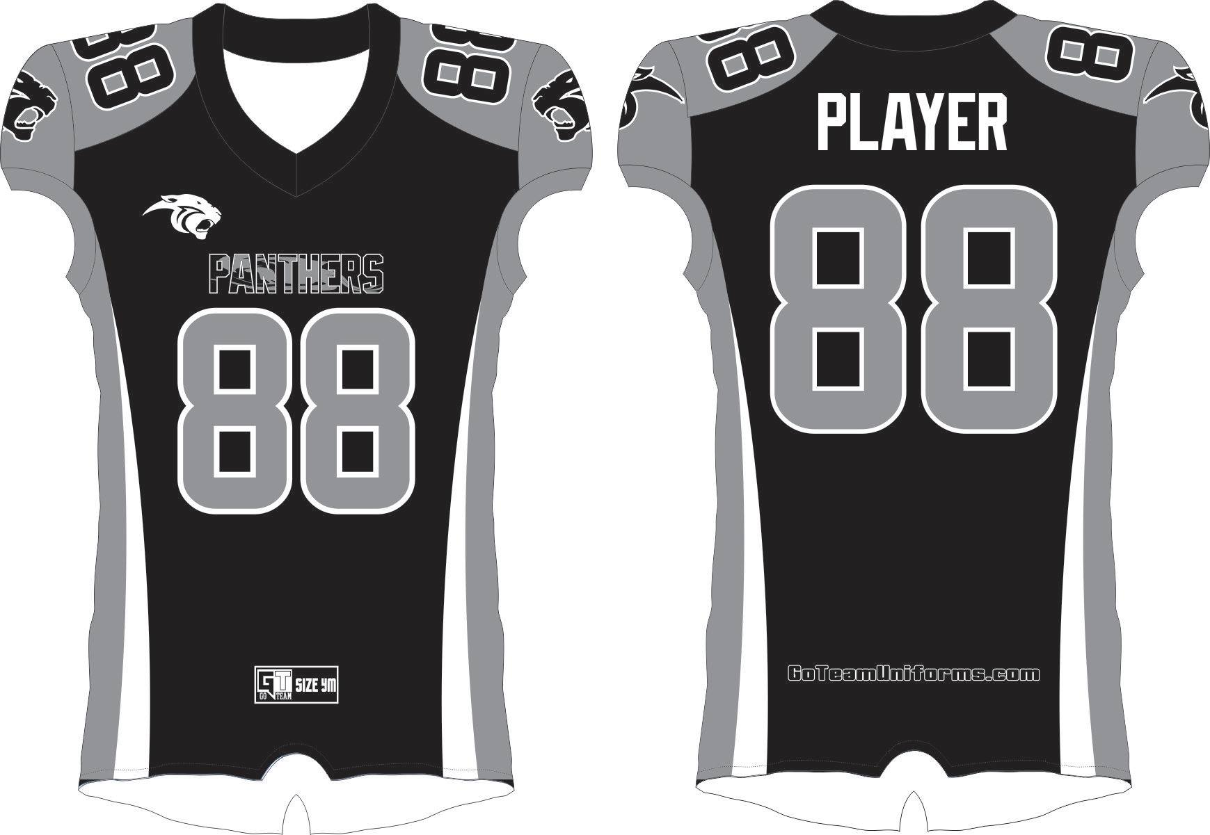 Panthers Black Tackle Jersey