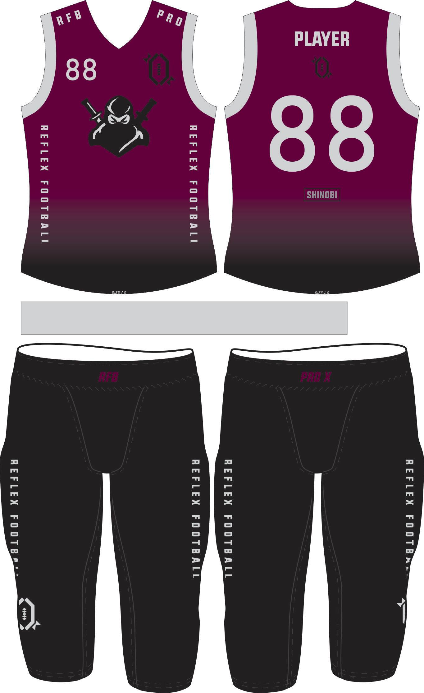 Shinobi Compression Flag Football Set