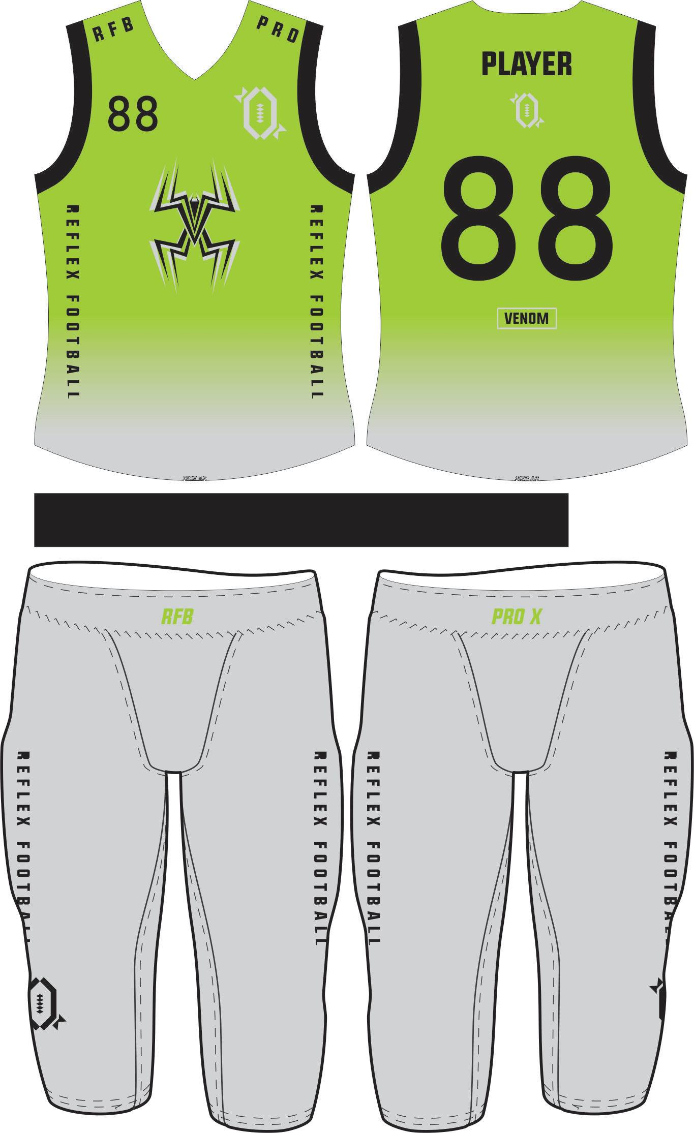 Venom Compression Flag Football Set