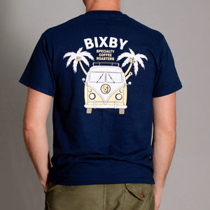 Bixby Banner Tee in Navy