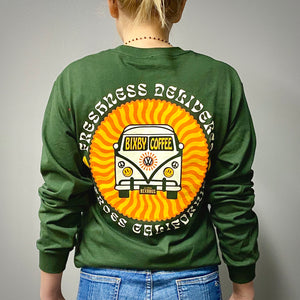 Green Long Sleeve Bus Tee