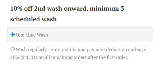 recurring wash sign up