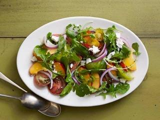 TOMATO-NECTARINE-PARSLEY SALAD WITH D'VASH DRESSING
