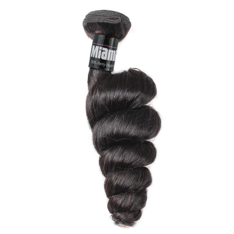 Brazilian Hair REMY 100% Natural Hair Weave Loose Wave