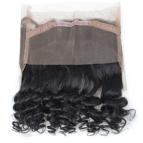 360° Lace Closure Brazilian 100% REMY Natural Hair Loose Wave