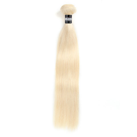 Brazilian Hair REMY 100% Natural Platinum Blond Hair Weave Straight