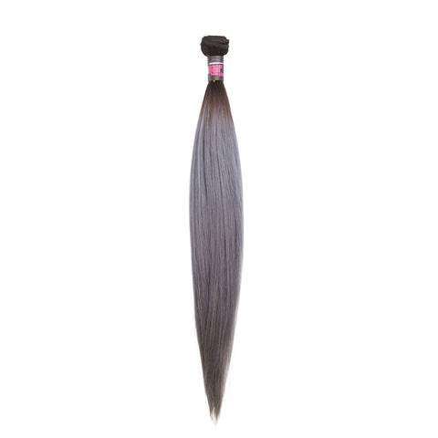 GREY Brazilian Hair REMY 100% Natural Hair Straight