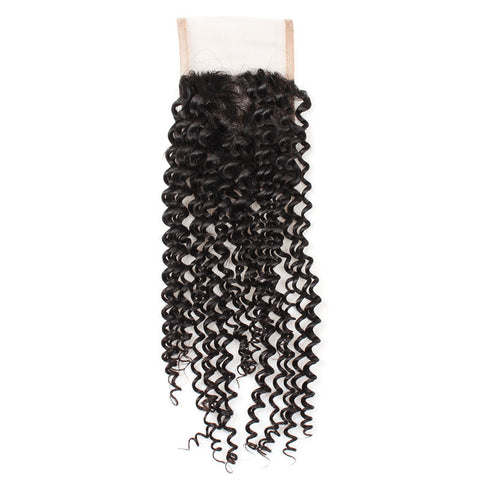 Tissage - Closure Brazilian REMY Hair Natural Kinky Curly Free Style