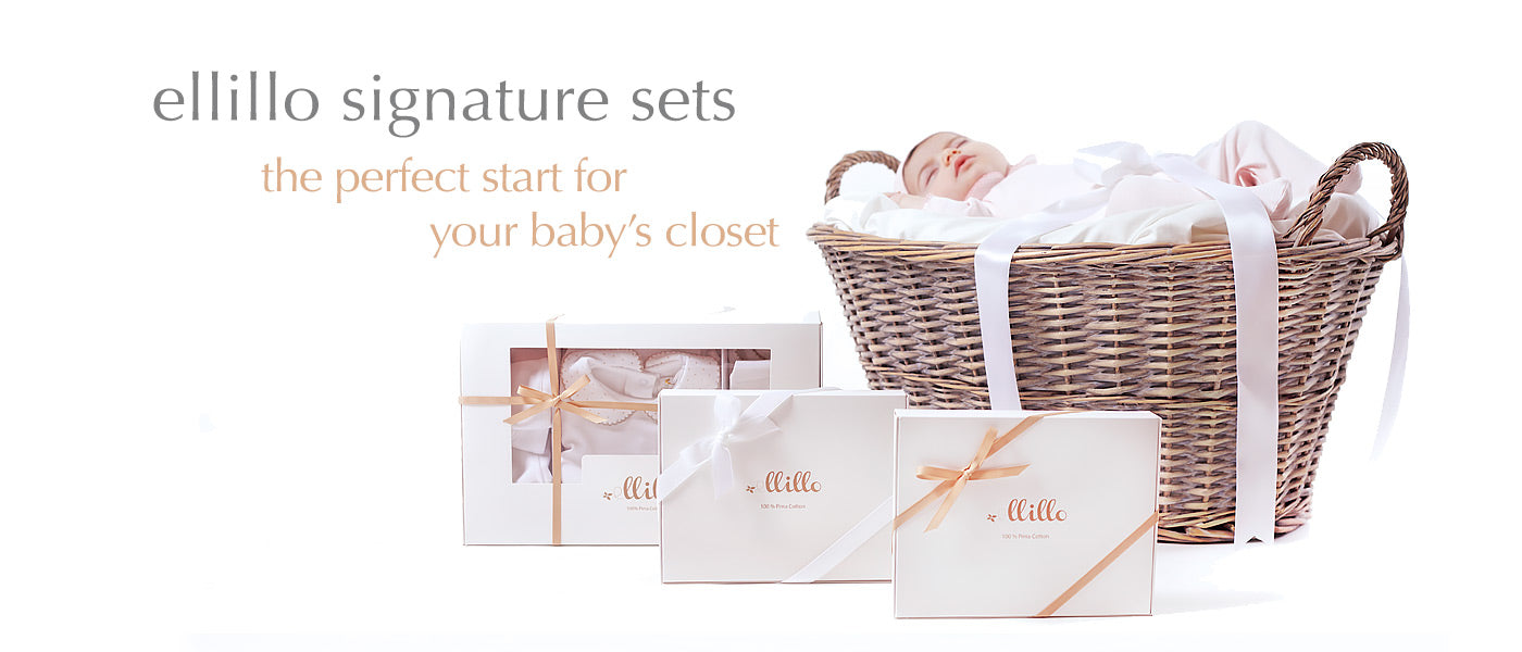 Ellillo Signature baby set pima cotton