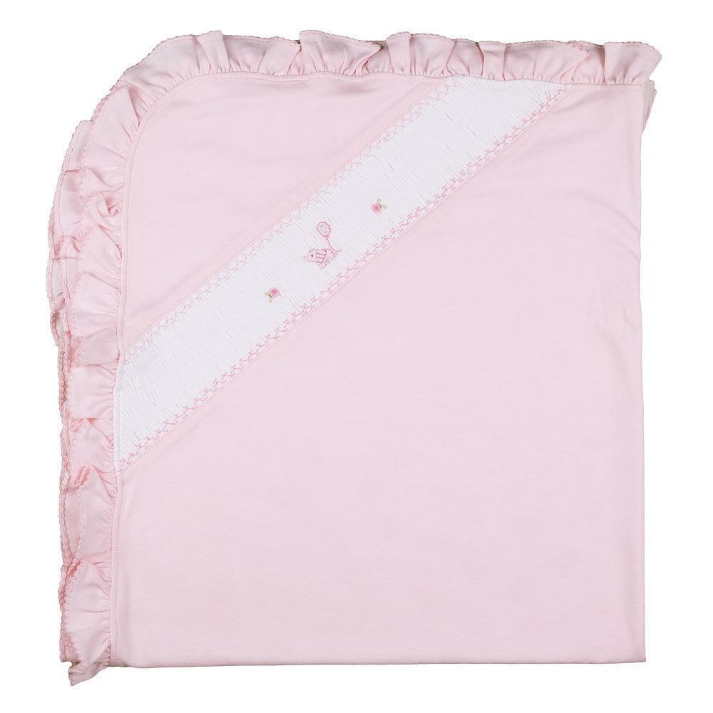 Flying Elephant Softest Pima Cotton Blanket Girls