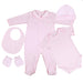 Ellillo Signature Softest Pima Cotton Clothing Pink Set