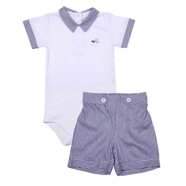 Softest Pima Cotton Boy Bodysuit and Shorts