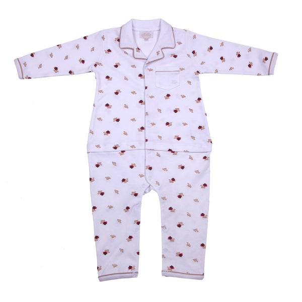 Softest Pima Cotton Boy footie/ Babygrow