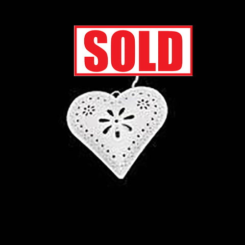 20 X Hanging Lazer Cut Heart Votive (R50)