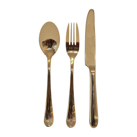 Gold Cutlery Trio Set