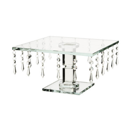 2 X Crystal Square Cake Stand (R350)