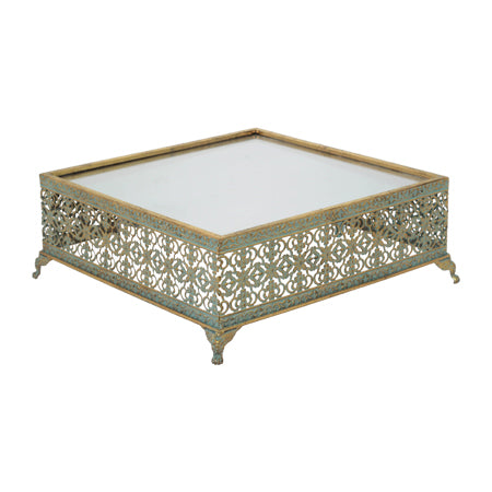 Gold Square Cake Stand LARGE
