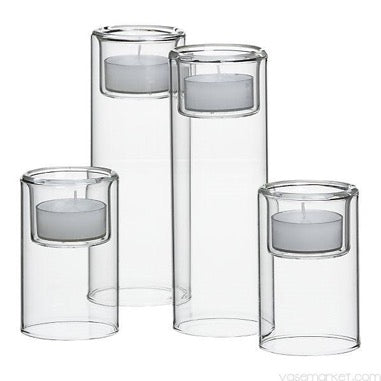 13 x Trio Cylinder Glass Votives BUNDLE (R150)