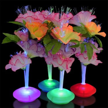 30 X LED Fiber Optic Flowers (R20)