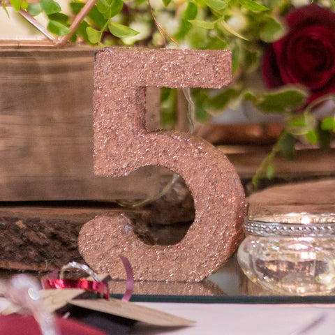 Rose Gold Table Number