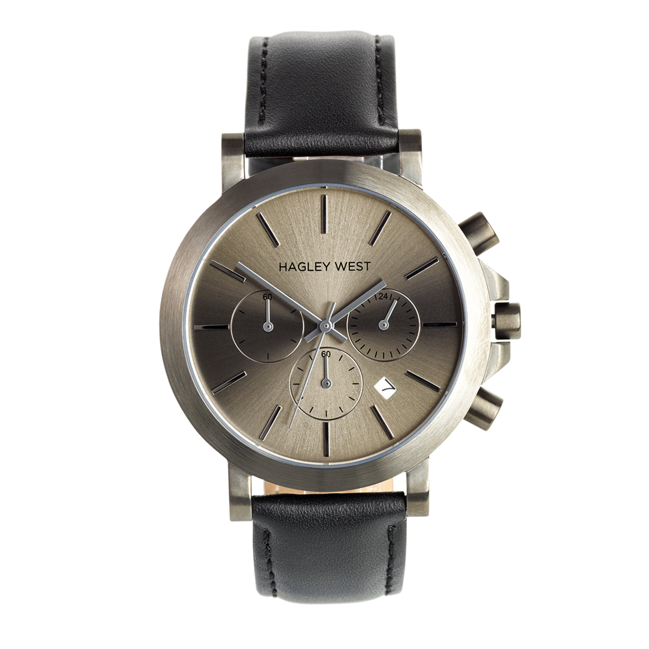 Chrono - HWW008 <!-- split -->Gun Metal/Black Leather