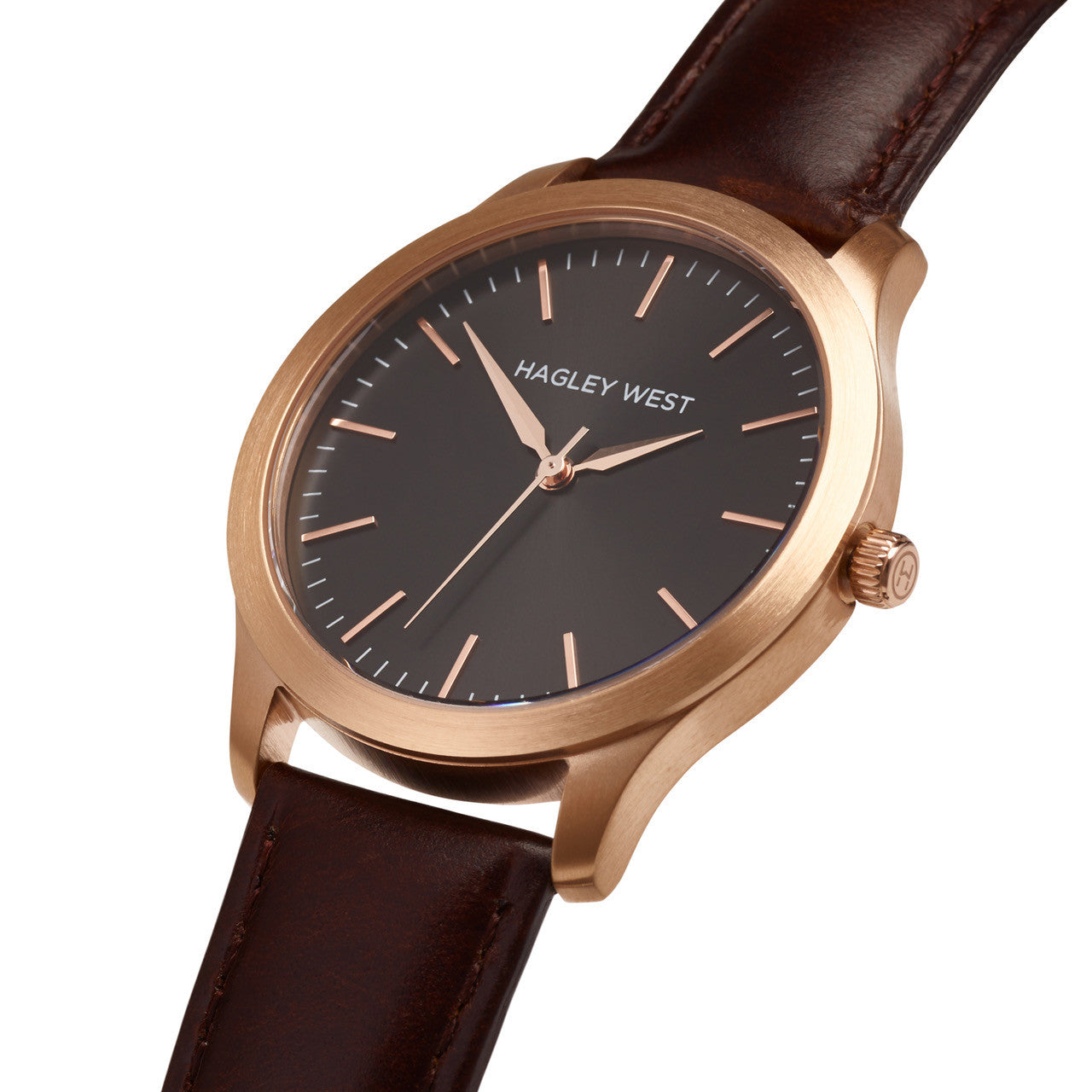 Classic - HWW004<!-- split -->Black/Rose Gold/Brown Leather