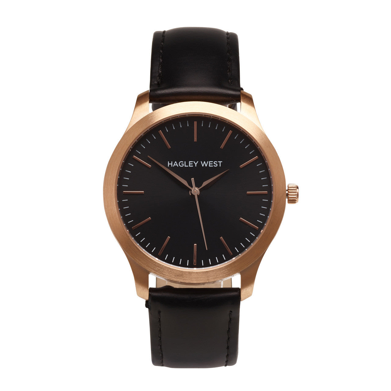 Classic - HWW006<!-- split -->Black/Rose Gold/Black Leather