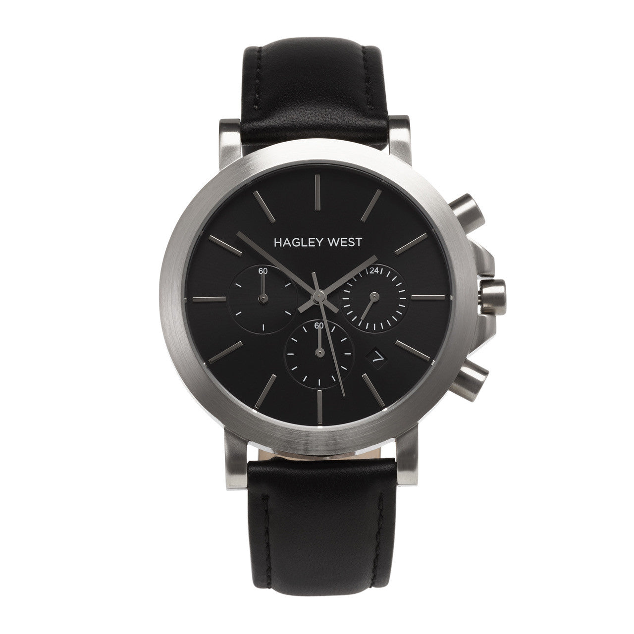 Chrono - HWW007 <!-- split -->Black/Silver/Black Leather