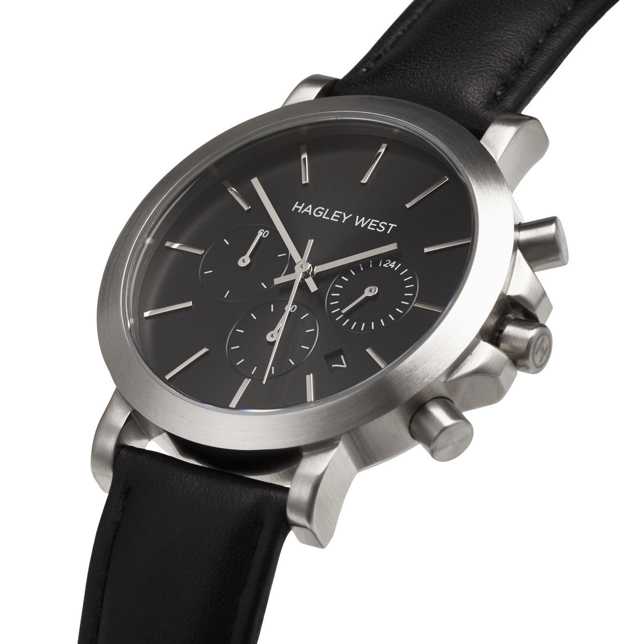 Chrono - HWW007 | Black/Silver/Black Leather