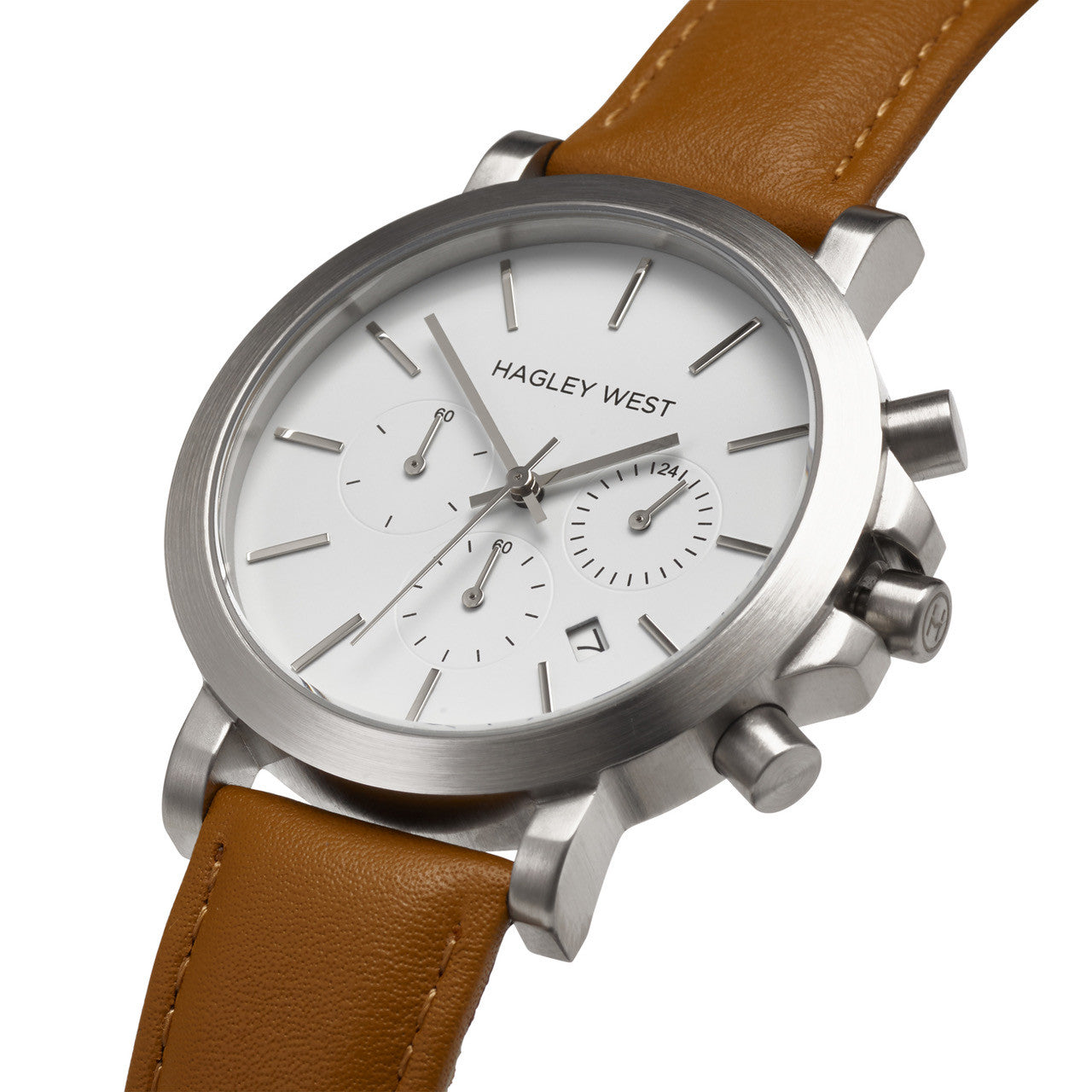 Chrono - HWW009 <!-- split -->White/Tan Leather
