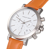 Chrono - HWW027 | White/Orange Leather