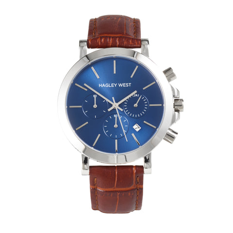 Chrono - HWW018 <!-- split -->Blue/Brown Bamboo