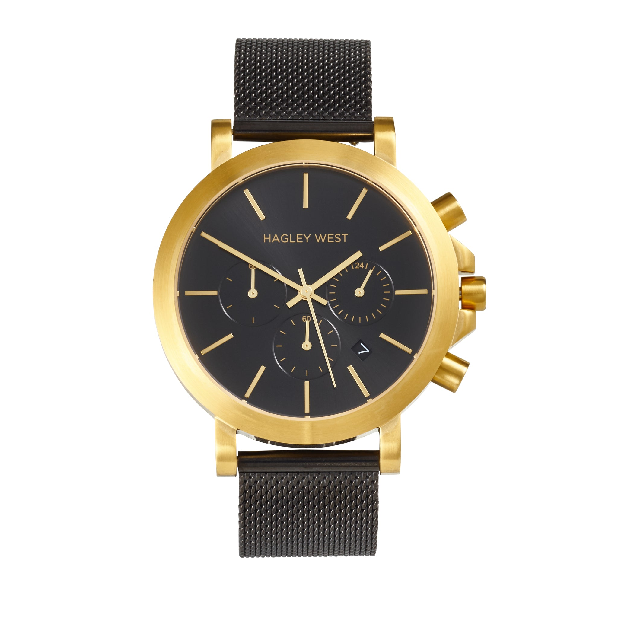 Chrono - HWW019 <!-- split -->Gold/Black Mesh