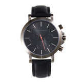 Chrono - HWW016 <!-- split -->Black/Gun Metal/Black Leather
