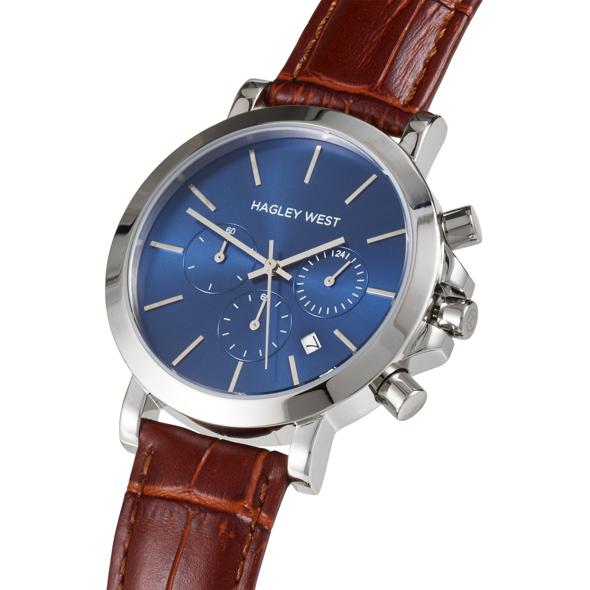 Chrono - HWW018 | Blue/Brown Bamboo