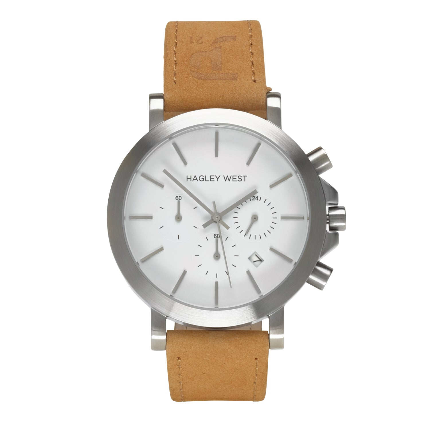Chrono - JP21 Charity <!-- split -->White/Sandstone Leather - £50 from every watch sold goes to the JP21 Foundation Charity