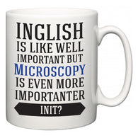 Inglish is Like Well Important But Microscopy Is Even More Importanter INIT?  Mug