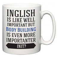 Inglish is Like Well Important But Body Building Is Even More Importanter INIT?  Mug