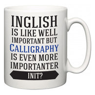 Inglish is Like Well Important But Calligraphy Is Even More Importanter INIT?  Mug