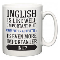 Inglish is Like Well Important But Computer activities Is Even More Importanter INIT?  Mug