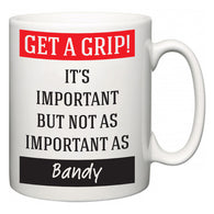 Get a GRIP! It's Important But Not As Important As Bandy  Mug