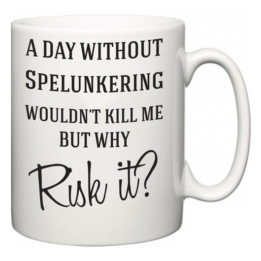 A Day Without Spelunkering Wouldn't Kill Me But Why Risk It?  Mug
